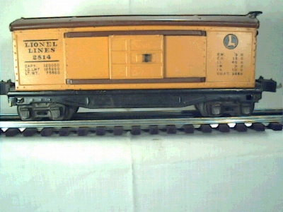 Lionel 2814 Rubber stamped Boxcar