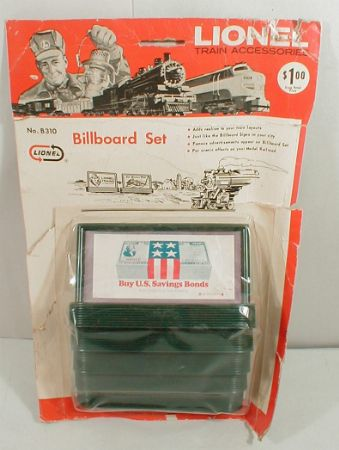 Lionel 310B billboard set on Blister card