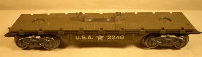 Marx 2246 Army Flatcar With Trucks