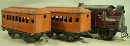 Lionel 600 passenger set in orange