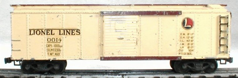 lionel 0014 boxcar