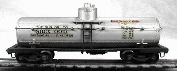 Lionel 0015 Sunoco tank car