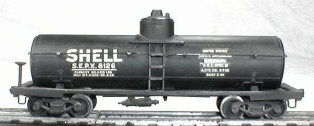 Lionel 0015 shell tank car
