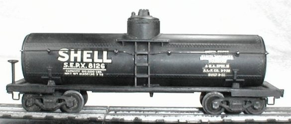 Lionel 0025 shell tank car