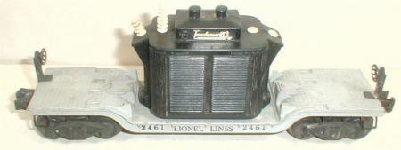 Lionel 2461 transformer flatcar