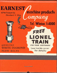 Lionel Train set Matches