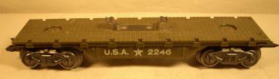 Marx 2246 Army Flatcar With Trucks