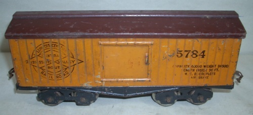 Lionel Brown roof 820 box car from 1915